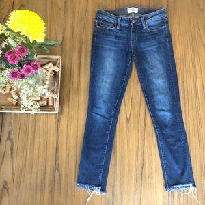 Paige SkyLine Ankle Peg skinny raw hem jeans